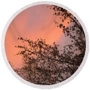 Nevada Sunrise Round Beach Towel