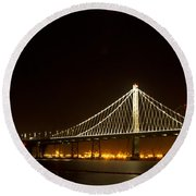 New Bay Bridge Round Beach Towel