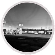 New Breed Of Truck Stop Round Beach Towel by Underwood Archives