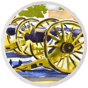 New Cannon Round Beach Towel