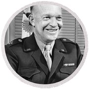 New Chief Of Staff Eisenhower Round Beach Towel