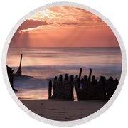New Day Dawning Round Beach Towel