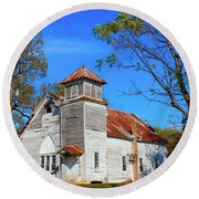 New Hope Mb Church Estill Ms Round Beach Towel