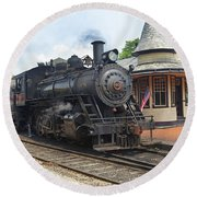 New Hope Station Round Beach Towel