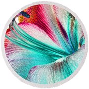 New Kid In Town Round Beach Towel by Margie Chapman