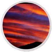 New Mexican Sunrise Round Beach Towel