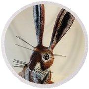 New Mexico Rabbit O Round Beach Towel