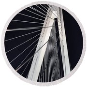 New Mississippi River Bridge Round Beach Towel