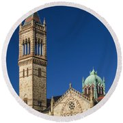 New Old South Church Round Beach Towel