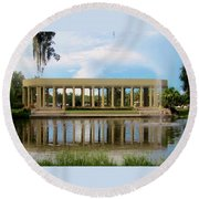 New Orleans City Park - Peristyle Round Beach Towel by Deborah Lacoste