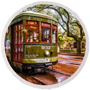 New Orleans Classique Oil Round Beach Towel