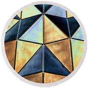 Pop Art Abstract Art Geometric Shapes Round Beach Towel