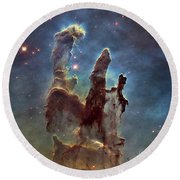 New Pillars Of Creation Hd Square Round Beach Towel