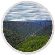 New River Bridge Round Beach Towel by Aimee L Maher Photography and Art Visit ALMGallerydotcom