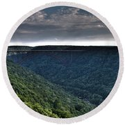 New River Bridge Round Beach Towel