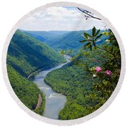 New River View Round Beach Towel
