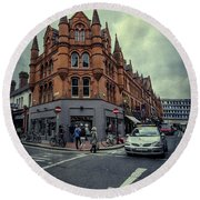 New Road. Old City. Round Beach Towel