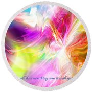 New Thing Round Beach Towel by Margie Chapman