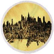 New York City Skyline 78 - Midtown Manhattan Round Beach Towel