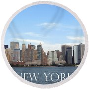 Round Beach Towel featuring the photograph New York As I Saw It In 2008 by Ausra Huntington nee Paulauskaite