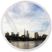 New York City Bridges Round Beach Towel
