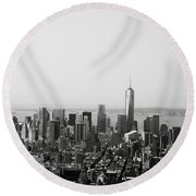 New York City Round Beach Towel