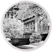 New York Public Library Ir Round Beach Towel