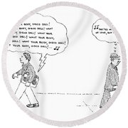 New Yorker April 14th, 1980 Round Beach Towel