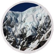 New Zealand Mountains Round Beach Towel
