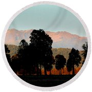 Round Beach Towel featuring the photograph New Zealand Silhouette by Amanda Stadther