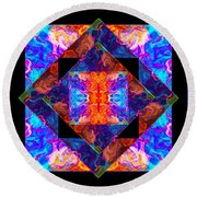 Newly Formed Bliss Mandala Artwork Round Beach Towel