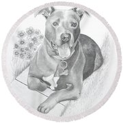 Newman Round Beach Towel