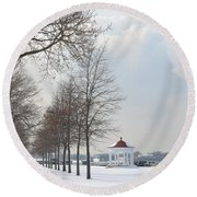 Newport Waterfront Round Beach Towel