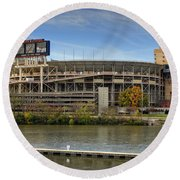 Neyland Stadium Round Beach Towel