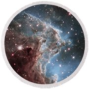 Ngc 2174-nearby Star Factory Round Beach Towel