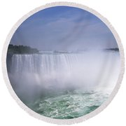Niagara Falls Round Beach Towel