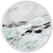 Niagara Falls With Observation Tower Behind Round Beach Towel