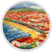 Nice La Belle Round Beach Towel