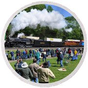 Nickel Plate Berkshire At Horseshoe Curve Round Beach Towel