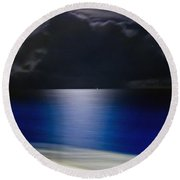 Night And Water Round Beach Towel