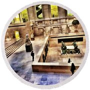 Night At The Louvre Round Beach Towel by Marianna Mills