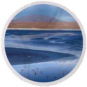 Laguna Colorada - Night Blue Round Beach Towel