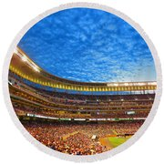Night Game At Target Field Round Beach Towel