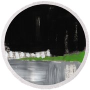 Night Horizon- Abstract Landscapeart Round Beach Towel