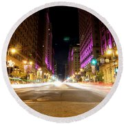 Night Life Round Beach Towel