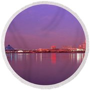 Night Memphis Tn Round Beach Towel