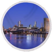 Night Moods II Round Beach Towel