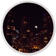 Round Beach Towel featuring the photograph Night Passage - San Diego by Glenn McCarthy