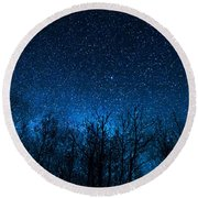 Night Stars Round Beach Towel