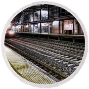 Night Train Round Beach Towel